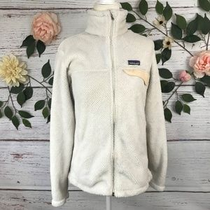Patagonia Size M Ivory Peach Sherpa Sweater